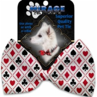 Mirage Pet 1234-VBT Deck of Cards Pet Bow Tie Collar Accessory with Cloth Hook & Eye