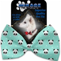 Mirage Pet 1239-VBT Happy Pandas Pet Bow Tie Collar Accessory with Cloth Hook & Eye