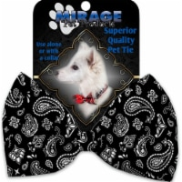 Mirage Pet 1256-VBT Black Western Pet Bow Tie Collar Accessory with Cloth Hook & Eye
