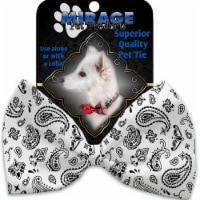 Mirage Pet 1259-VBT White Western Pet Bow Tie Collar Accessory with Cloth Hook & Eye - 1