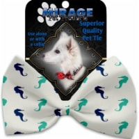 Mirage Pet 1260-VBT Seahorses Pet Bow Tie Collar Accessory with Cloth Hook & Eye - 1