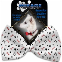 Mirage Pet 1274-VBT Sweet Paws Pet Bow Tie Collar Accessory with Cloth Hook & Eye - 1