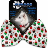 Mirage Pet 1275-VBT Christmas Cupcakes Pet Bow Tie Collar Accessory with Cloth Hook & Eye