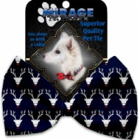 Mirage Pet 1281-VBT Team Prancer Pet Bow Tie Collar Accessory with Cloth Hook & Eye - 1