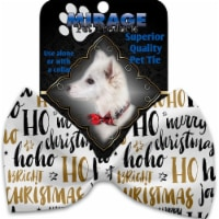 Mirage Pet 1295-VBT Santa Sayings Pet Bow Tie Collar Accessory with Cloth Hook & Eye - 1