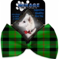 Mirage Pet 1305-VBT Green Plaid Pet Bow Tie Collar Accessory with Cloth Hook & Eye - 1