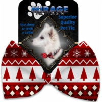 Mirage Pet 1310-VBT Red Classic Christmas Pet Bow Tie Collar Accessory with Cloth Hook & Eye - 1