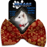 Mirage Pet 1313-VBT Red Snowflakes Pet Bow Tie Collar Accessory with Cloth Hook & Eye - 1