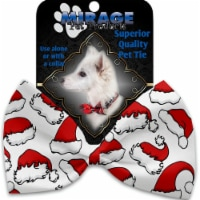 Mirage Pet 1314-VBT Santa Hats Pet Bow Tie Collar Accessory with Cloth Hook & Eye - 1
