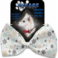 Mirage Pet 1322-VBT Vintage Snowflakes Pet Bow Tie Collar Accessory with Cloth Hook & Eye