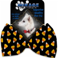 Mirage Pet 1330-VBT Candy Corn Pet Bow Tie Collar Accessory with Cloth Hook & Eye - 1