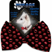 Mirage Pet 1334-VBT Love Bites Pet Bow Tie Collar Accessory with Cloth Hook & Eye - 1