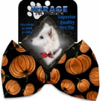 Mirage Pet 1336-VBT Pumpkin Patch Pet Bow Tie Collar Accessory with Cloth Hook & Eye - 1