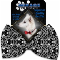 Mirage Pet 1337-VBT Spinning Skulls Pet Bow Tie Collar Accessory with Cloth Hook & Eye - 1