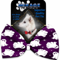 Mirage Pet 1350-VBT Ghosts on Purple Pet Bow Tie Collar Accessory with Cloth Hook & Eye - 1