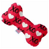 Mirage Pet 1101-CTYBN8 Red XOXO Canvas Bone Dog Toy - 8 in. - 1