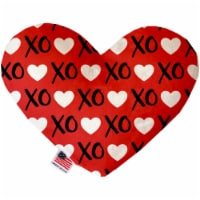 Mirage Pet 1101-CTYHT6 Red XOXO Canvas Heart Dog Toy - 6 in. - 1