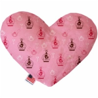 Mirage Pet 1117-CTYHT8 Pink Whimsy Bird Cages Canvas Heart Dog Toy - 8 in. - 1