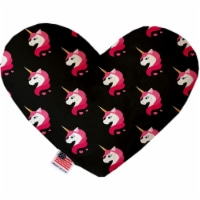 Mirage Pet 1122-CTYHT6 Pretty Pink Unicorns Canvas Heart Dog Toy - 6 in. - 1