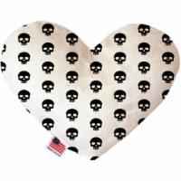 Mirage Pet 1124-CTYHT6 Skulls Canvas Heart Dog Toy - 6 in. - 1