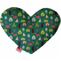 Mirage Pet 1128-CTYHT6 Forest Follies Canvas Heart Dog Toy - 6 in. - 1