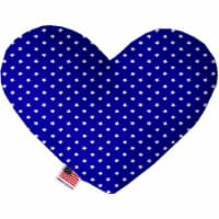 Mirage Pet 1134-CTYHT8 Blue Stars Canvas Heart Dog Toy - 8 in.
