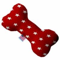 Mirage Pet 1135-CTYBN8 Red Stars Canvas Bone Dog Toy - 8 in. - 1