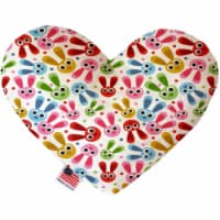 Mirage Pet 1166-CTYHT6 Funny Bunnies Canvas Heart Dog Toy - 6 in. - 1