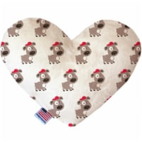 Mirage Pet 1173-CTYHT6 Fresh Pup Canvas Heart Dog Toy - 6 in.