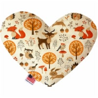 Mirage Pet 1186-CTYHT6 Fox & Friends Canvas Heart Dog Toy - 6 in. - 1