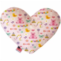 Mirage Pet 1195-CTYHT6 Baby Girl Canvas Heart Dog Toy - 6 in. - 1