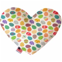 Mirage Pet 1199-CTYHT6 Easter Eggs Canvas Heart Dog Toy - 6 in. - 1