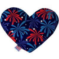 Mirage Pet 1205-CTYHT6 Fireworks Canvas Heart Dog Toy - 6 in. - 1