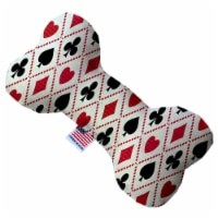 Mirage Pet 1234-CTYBN10 Deck of Cards Canvas Bone Dog Toy - 10 in.