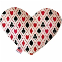Mirage Pet 1234-CTYHT6 Deck of Cards Canvas Heart Dog Toy - 6 in.