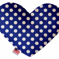 Mirage Pet 1241-CTYHT6 Bright Blue Swiss Dots Canvas Heart Dog Toy - 6 in. - 1