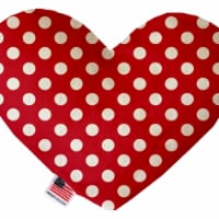 Mirage Pet 1247-CTYHT6 Red Swiss Dots Canvas Heart Dog Toy - 6 in. - 1