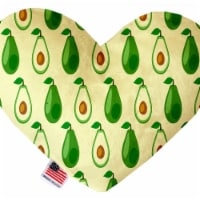 Mirage Pet 1251-CTYHT6 Avocado Paradise Canvas Heart Dog Toy - 6 in. - 1
