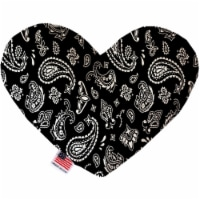Mirage Pet 1256-CTYHT6 Black Western Canvas Heart Dog Toy - 6 in.