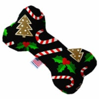 Mirage Pet 1272-CTYBN8 Candy Cane Chaos Canvas Bone Dog Toy - 8 in.