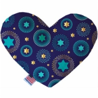 Mirage Pet 1288-CTYHT8 Blue Star of David Canvas Heart Dog Toy - 8 in.