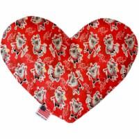 Mirage Pet 1296-CTYHT6 Krampus Canvas Heart Dog Toy - 6 in. - 1