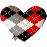 Mirage Pet 1303-CTYHT6 Red & Grey Argyle Canvas Heart Dog Toy - 6 in. - 1