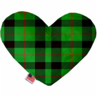 Mirage Pet 1305-CTYHT8 Green Plaid Canvas Heart Dog Toy - 8 in.
