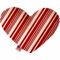 Mirage Pet 1309-CTYHT8 Classic Candy Cane Stripes Canvas Heart Dog Toy - 8 in. - 1