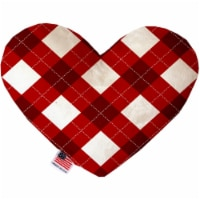 Mirage Pet 1311-CTYHT8 Candy Cane Argyle Canvas Heart Dog Toy - 8 in. - 1