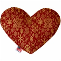 Mirage Pet 1313-CTYHT8 Red Snowflakes Canvas Heart Dog Toy - 8 in. - 1