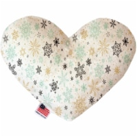 Mirage Pet 1322-CTYHT8 Vintage Snowflakes Canvas Heart Dog Toy - 8 in.