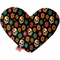 Mirage Pet 1327-CTYHT8 Sugar She Skulls Canvas Heart Dog Toy - 8 in. - 1