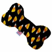 Mirage Pet 1330-CTYBN8 Candy Corn Canvas Bone Dog Toy - 8 in. - 1